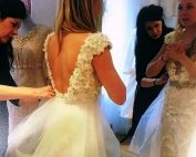 Working with a designer to create your dream wedding dress